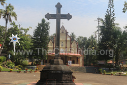 Stone Cross at Kothanalloor Church
